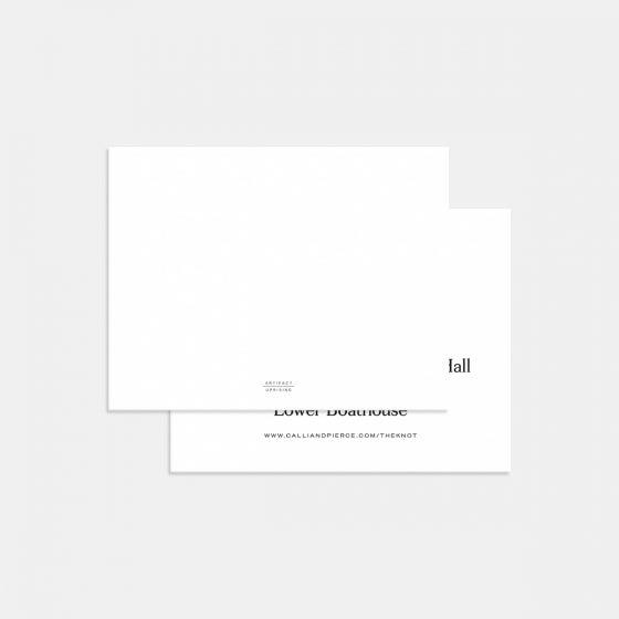 Contemporary Classic Enclosure Card
