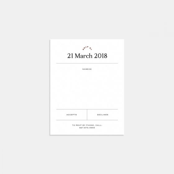 Foil-Stamped Contemporary Classic RSVP Card