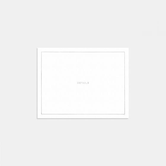 Union Letterpress Enclosure Card