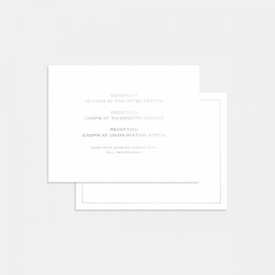 Union Letterpress Enclosure Card
