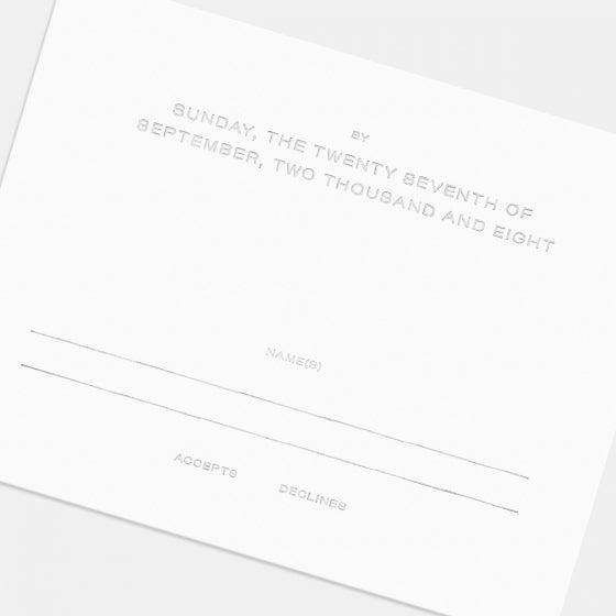 Letterpress Union RSVP Card