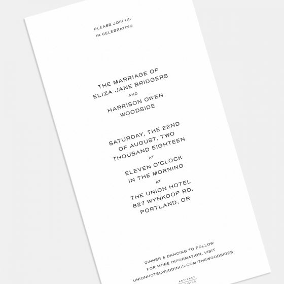 Union Wedding Invitation
