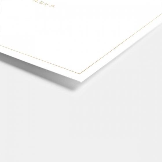 Foil-Stamped Union RSVP Card