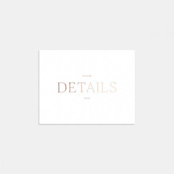 Pronounced Letterpress Enclosure Card
