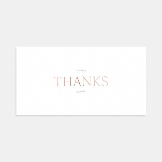 Letterpress Pronounced Thank You Card