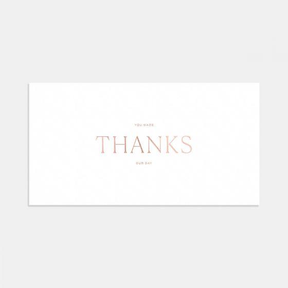 Letterpress Pronounced Thank You Card