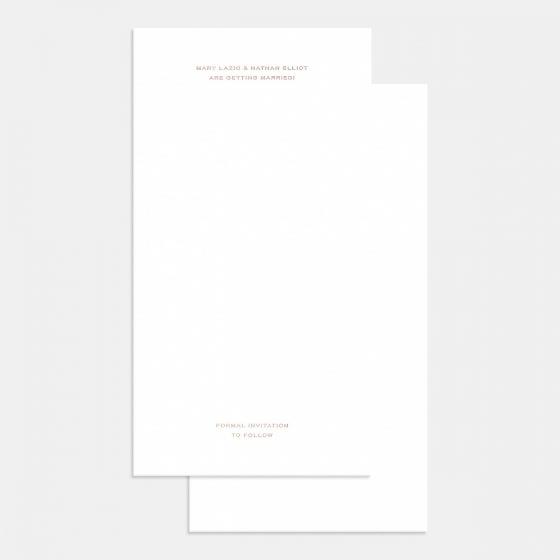 Letterpress Pronounced Save the Date