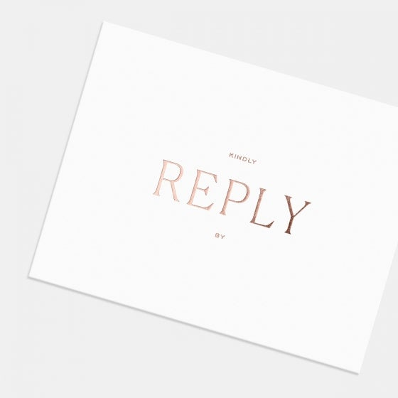 Foil-Stamped Pronounced RSVP Card