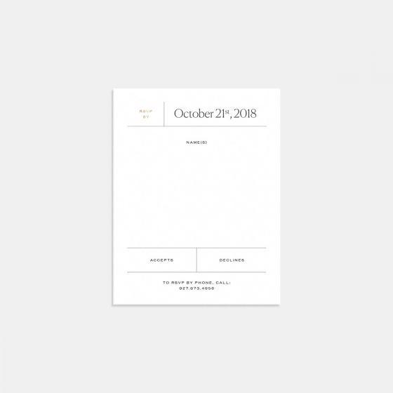 Elemental RSVP Card with Foil