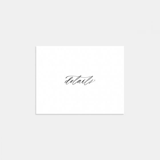 Hand-lettering Enclosure Card