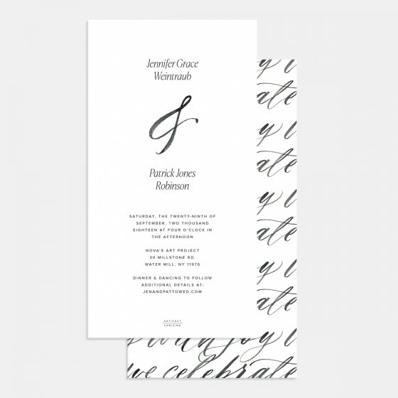 Hand-lettering Wedding Invitation