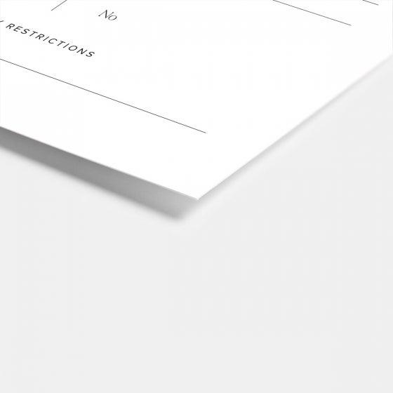 Hand-lettering RSVP Card