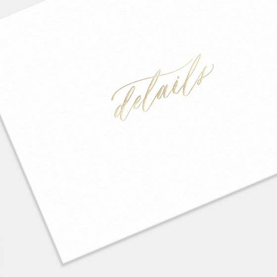 Foil-Stamped Hand-Lettering Enclosure Card