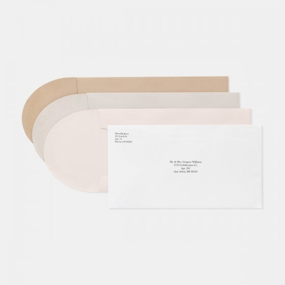 Foil-Stamped Contemporary Classic Wedding Invitation