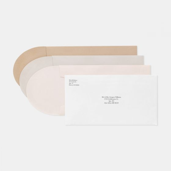 Foil-Stamped Colorblock Save the Date