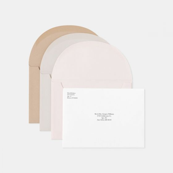 Foil-Stamped Colorblock RSVP Card