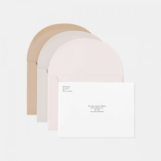 Foil-Stamped Colorblock Thank You Card