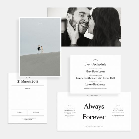 Contemporary Classic Save the Date