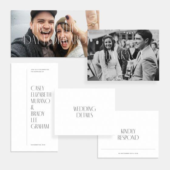 Foil-Stamped Minimal Wedding Invitation