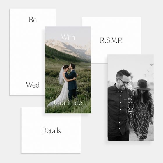 Foil-Stamped Simple Serif Save the Date