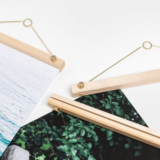 Wooden Print Hanger with Print