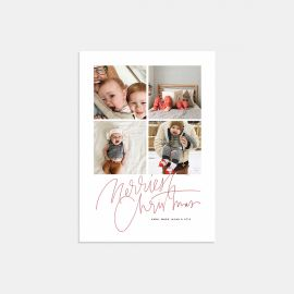 Hand-Lettered Merriest Christmas Card
