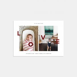 Duo-Image Love Card with Foil