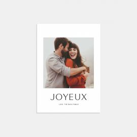 Simple Joyeux Card