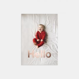 Hello Baby Announcement with Foil