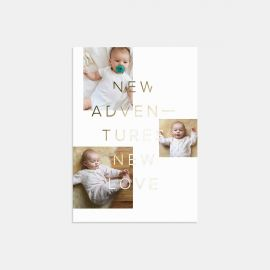 New Adventures Birth Announcement with Foil