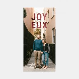 Bold Joyeux Holiday Card with Foil