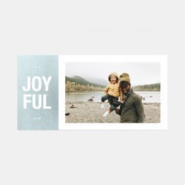 Bold Joyful Holiday Card & Gift Tag