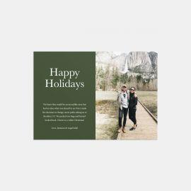 Colorblock Happy Holidays Card