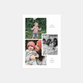 Layered Multi-Image Holiday Card
