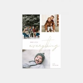 Merry Script Holiday Card