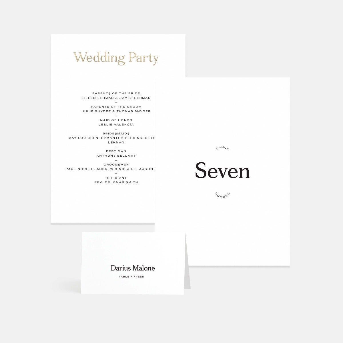 Contemporary Classic Table Numbers