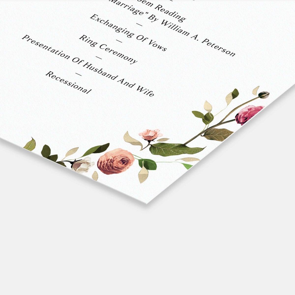 Venamour Botanical Day-Of Details Card