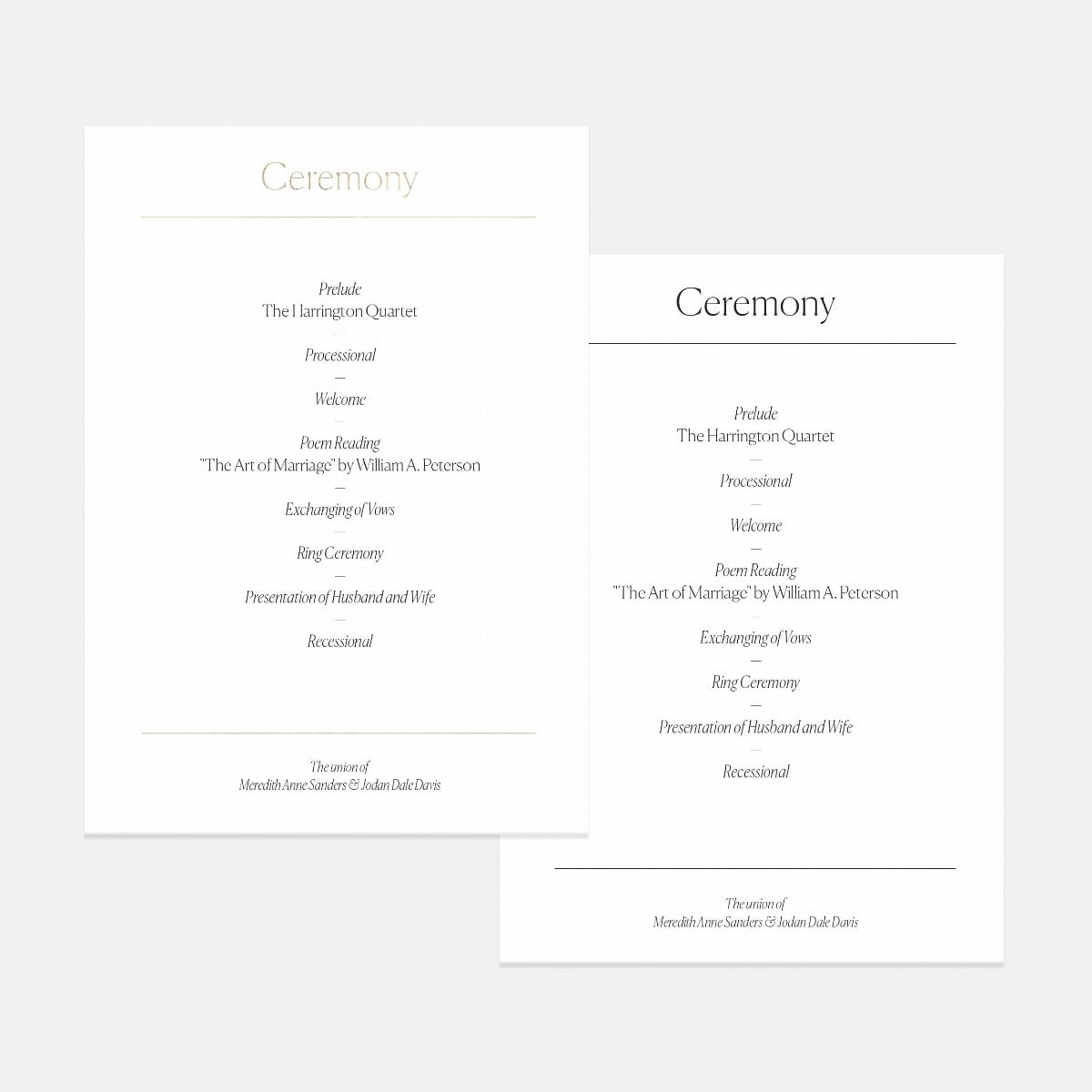 Elemental Day-Of Details Card