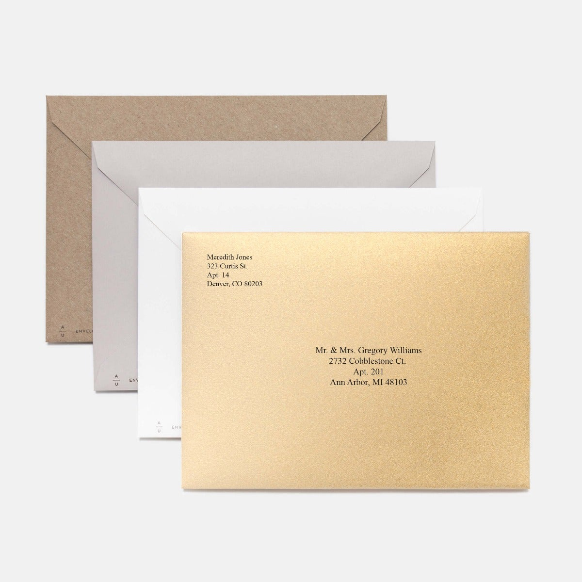 Trio Script Holiday Card