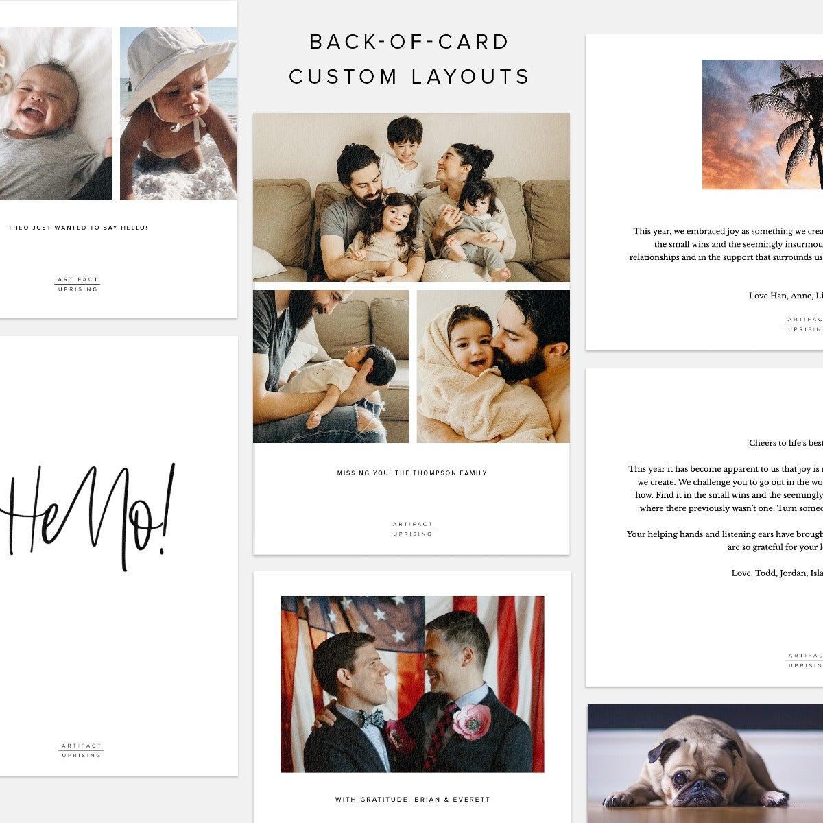 Minimally Bold Greeting Card