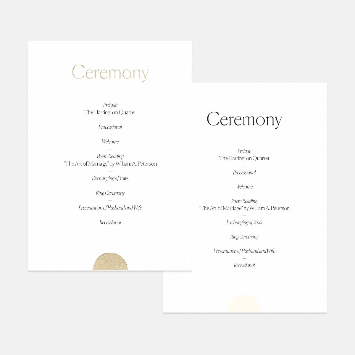 Geometric Day-Of Details Card