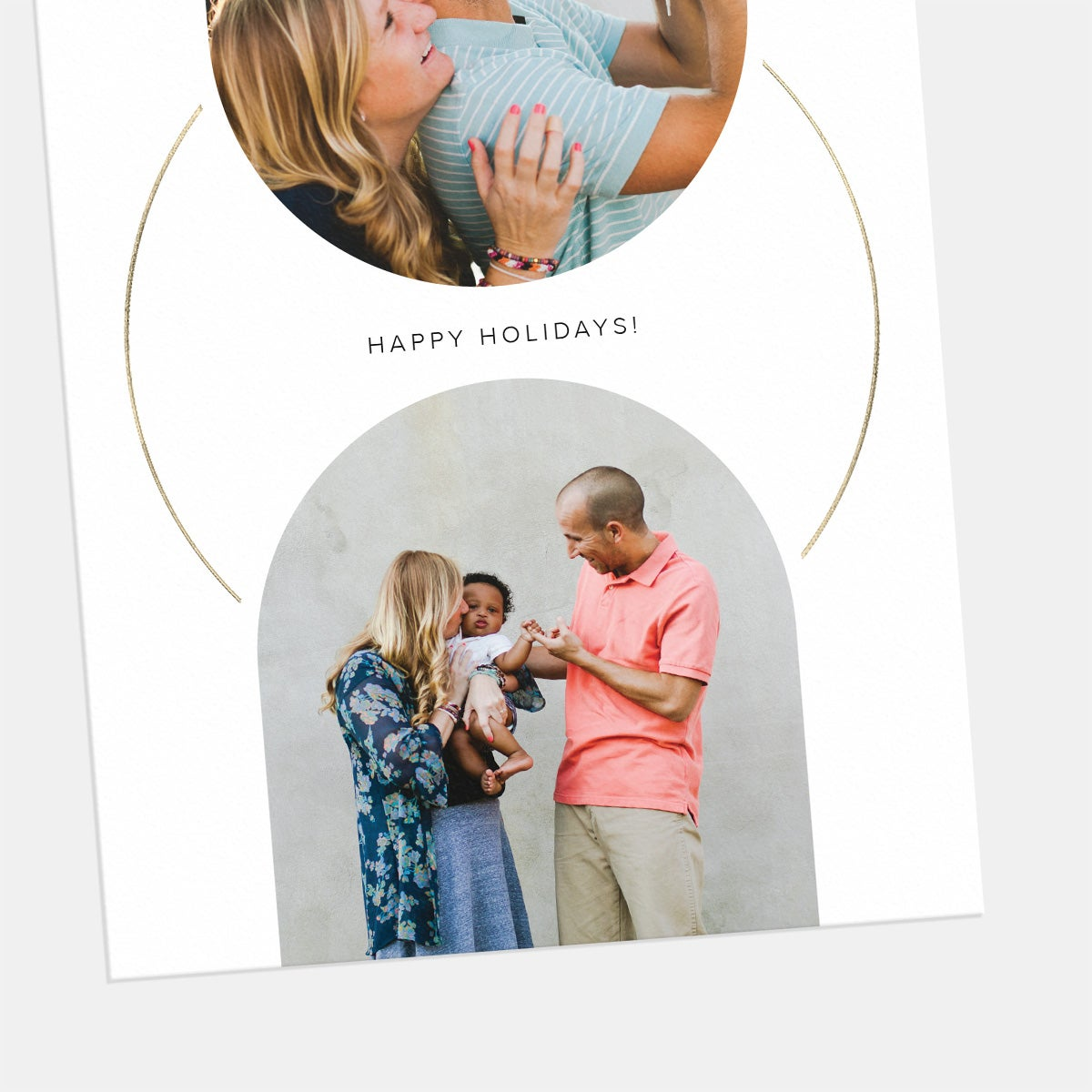 Geometric Connection Holiday Card