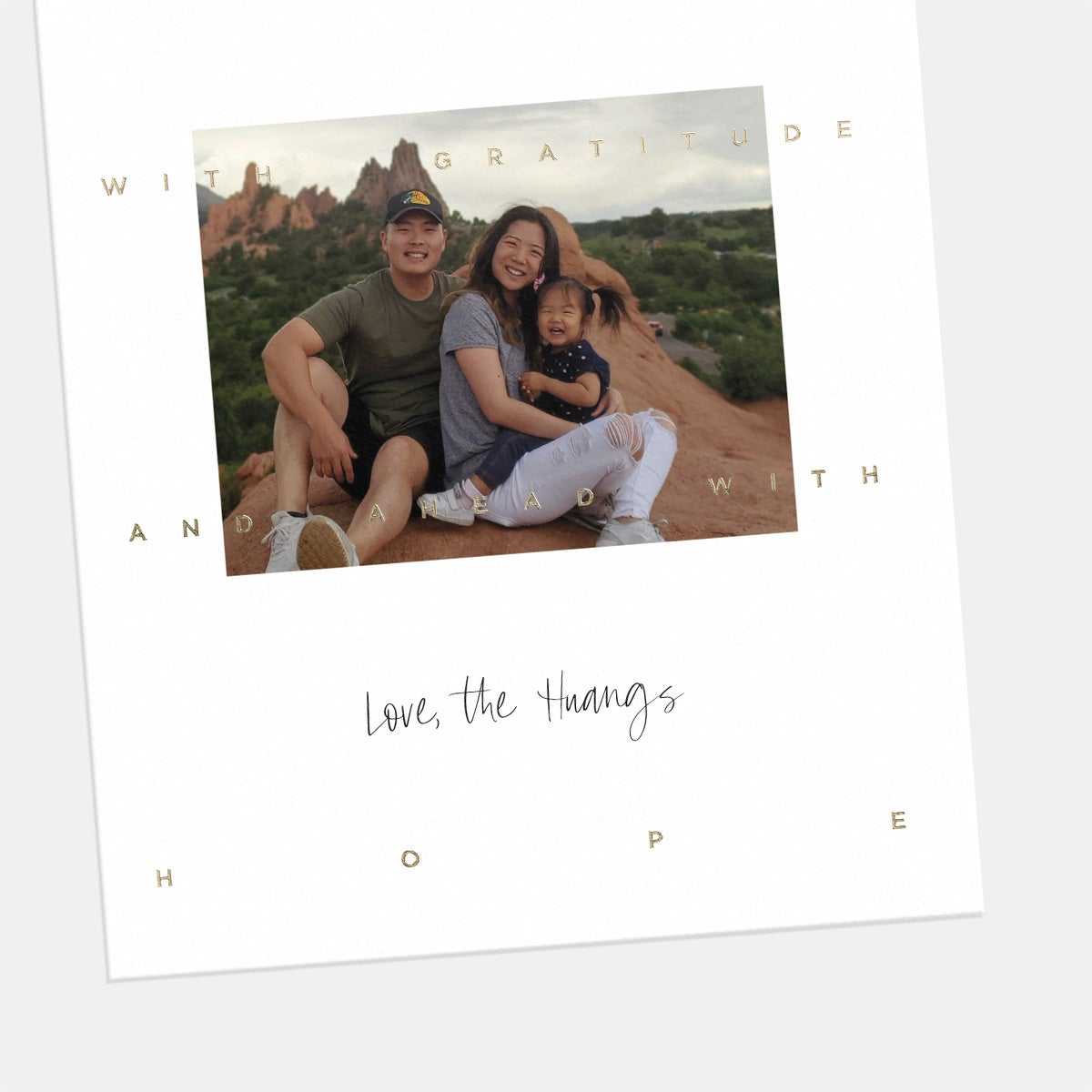 Greeting Overlay Holiday Card