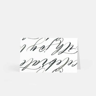 Hand-Lettering Escort Cards