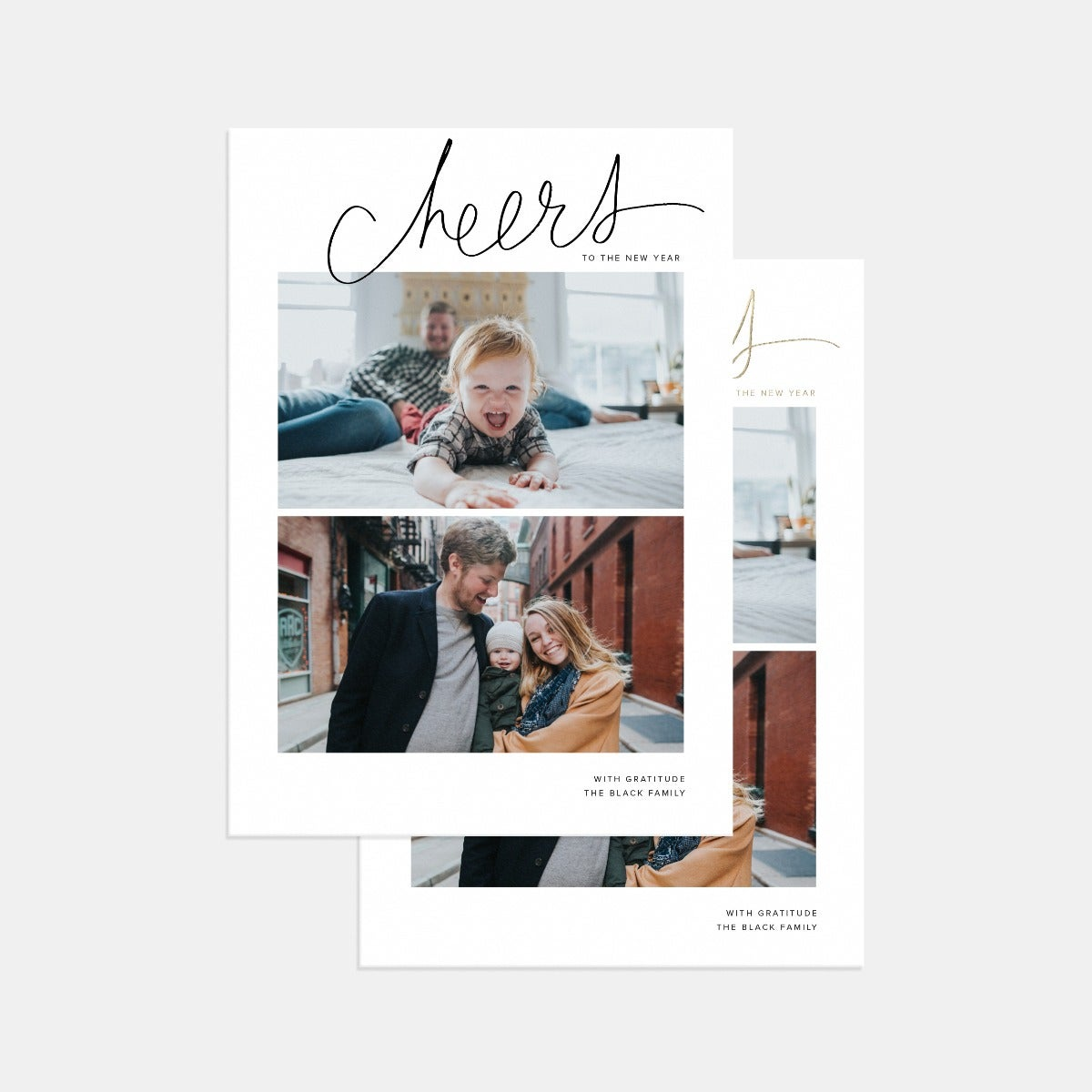 Hand-Lettered Cheers Card with Watercolor