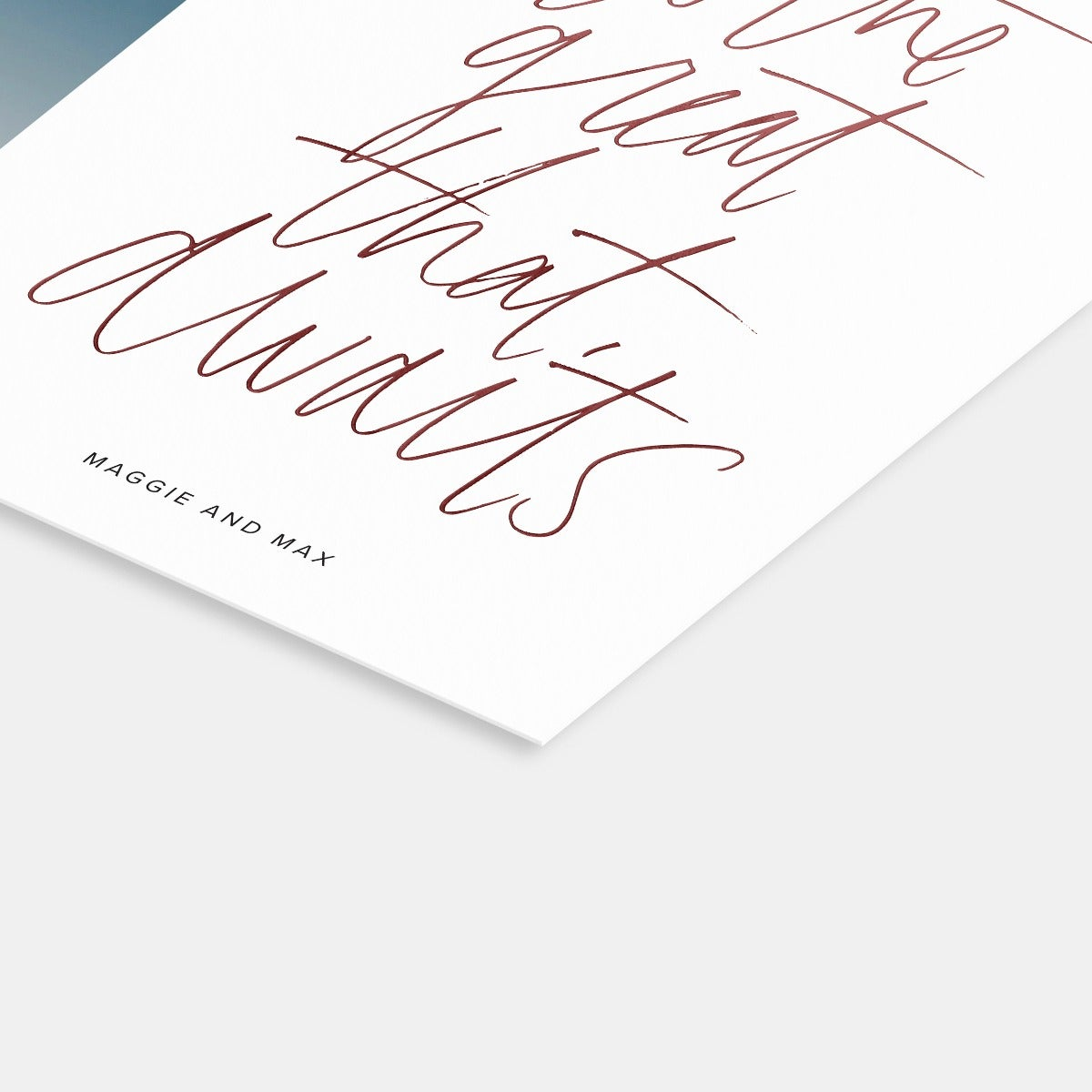 Hand-Lettered Great that Awaits Card