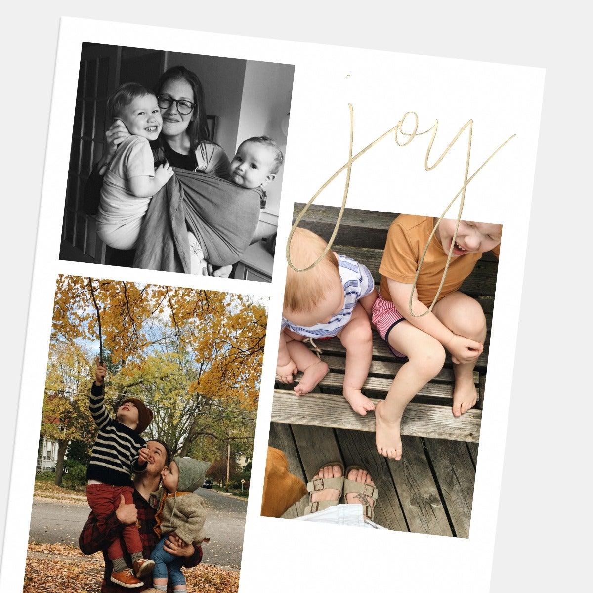 Hand-Lettered Multi-Image Joy Card