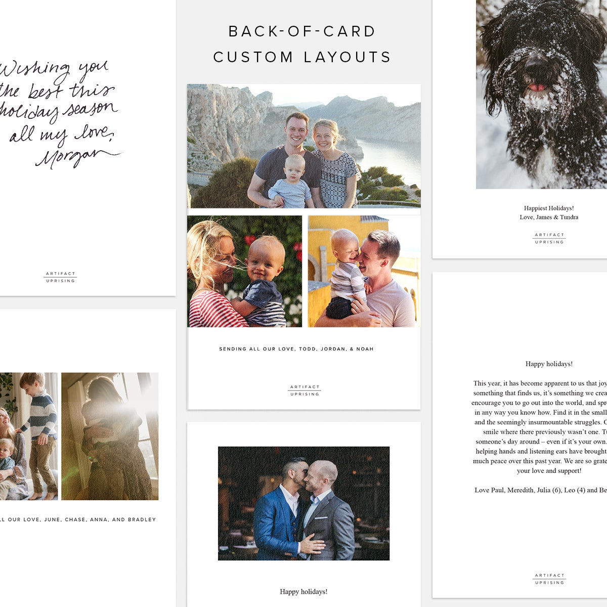 Hand-Brushed Holiday Card