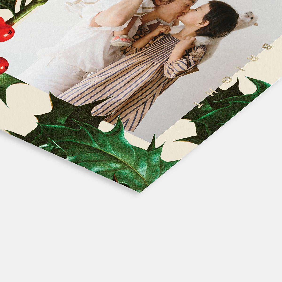 Holly Border Holiday Card