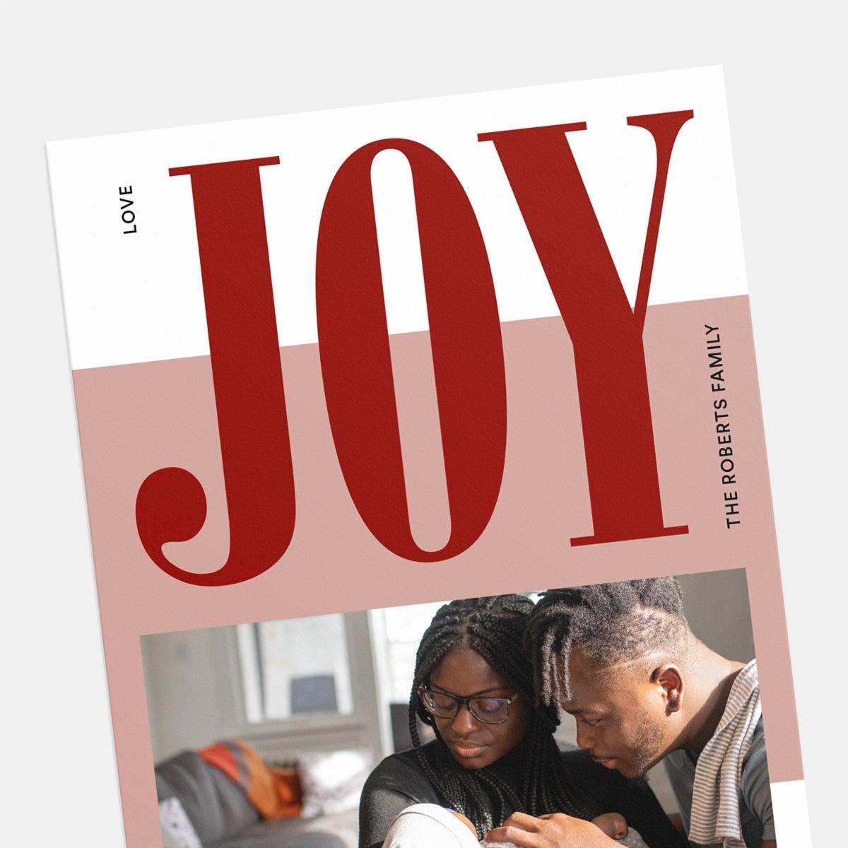 Joy Colorblock Holiday Card